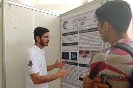 Claudivan Freitas, do curso de Engenharia Elétrica, explicou o canal PEETEETUBE desenvolvido para ampliar o conhecimento sobre a área.